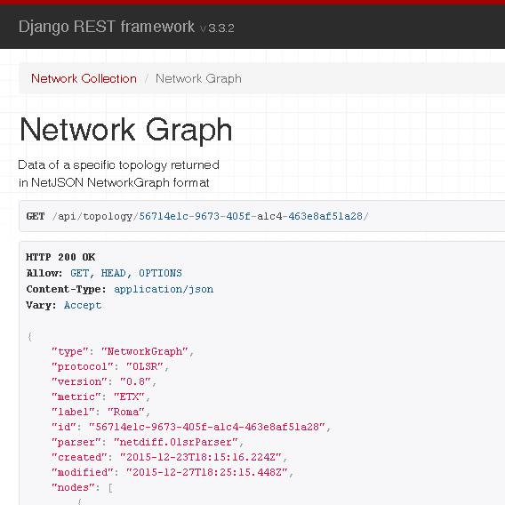 network topology collector django model
